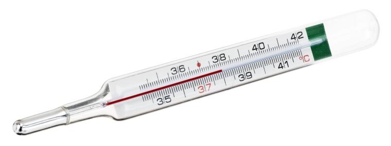 Fieberthermometer aus Glas